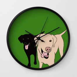 Tanner and Lily Best Labrador Buddies Wall Clock