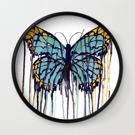 Melting Monarch (collab with Matheus Lopes) Wall Clock