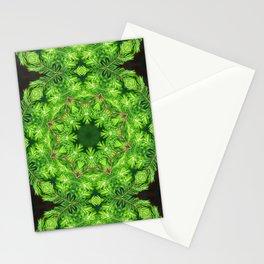 Spring green Canadian Hemlock mandala Stationery Cards