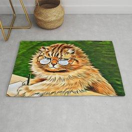ORANGE TABBY CAT - Louis Wain's Cats Rug
