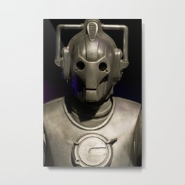 Cyberman From Doctor Who Metal Print
