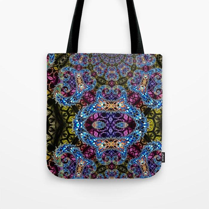 BBQSHOES: Fractal Design 1020C Digital Psychedelic Art Tote Bag