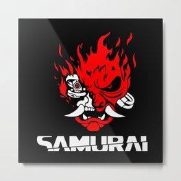 Cyberpunk 2077 Samurai Metal Print