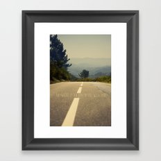 anywhere is an adventure with you Framed Art Print
