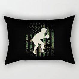 Football Patriot USA Camouflage Rectangular Pillow