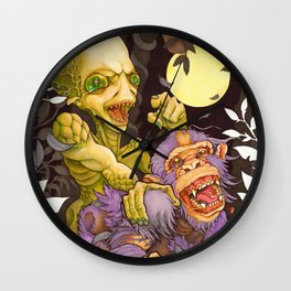 Alien & Ape (True Love) Wall Clock