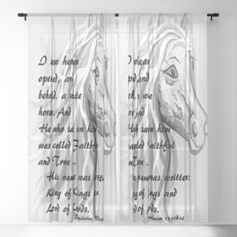 White Horse of a King Sheer Curtain