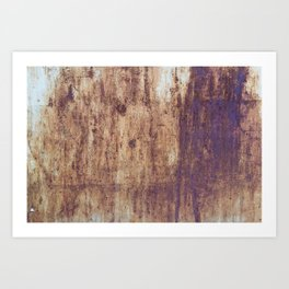 post war rust print Art Print