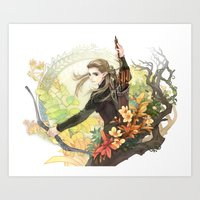 legolas Art Prints featuring Legolas by kagalin