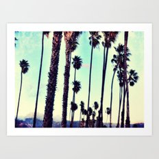 SB Palm Walk Art Print