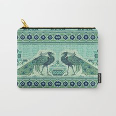 Peacocks Mosaic Carry-All Pouch