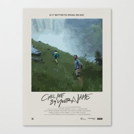 Call Me by Your Name (2017) Minimalist Poster Canvas Print