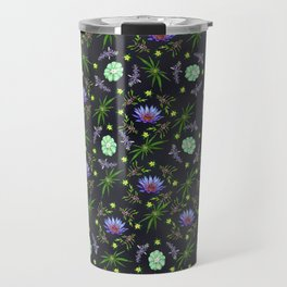 Smokeable Hallucinogenic Plants Pattern Travel Mug