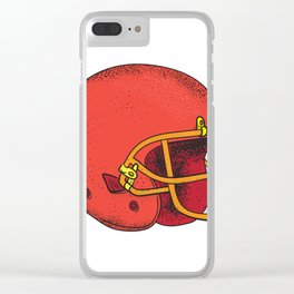 American Football Helmet  Tattoo Clear iPhone Case