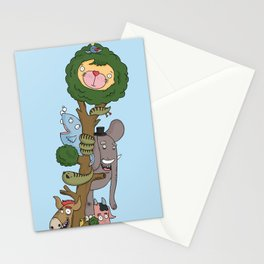 The Animals of the Jungle Tree Stationery Cards