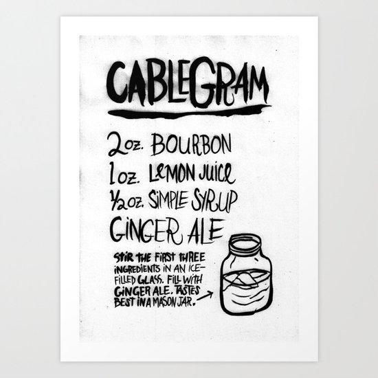 CABLEGRAM Art Print