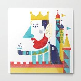 King Messi Metal Print