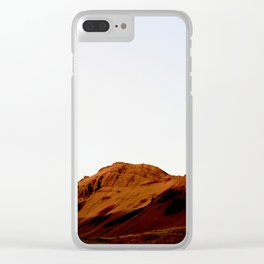 Red hills Clear iPhone Case
