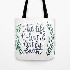 Galatians 2:20 Tote Bag