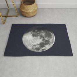Waxing Gibbous Moon on Navy Rug