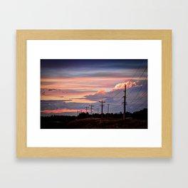 Prarie Sunset, Alberta Framed Art Print