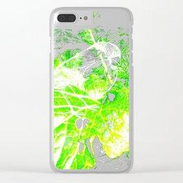 L'oiseau sur le choux Clear iPhone Case