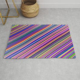 Striped Lines Color Harmony Textile Pattern Rug