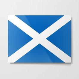 Scottish flag Saltire Metal Print