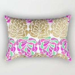 Chic Girly Gold Pink Purple Teal Painted Tear Drop Rectangular Pillow