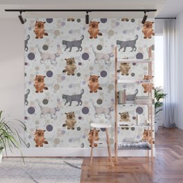 Kittens and ball Wall Mural