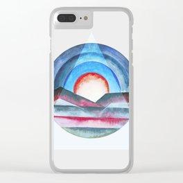 Geometric landscapes 03 Clear iPhone Case