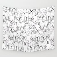 woodland Wall Tapestries featuring Woodland by Lydia Meiying