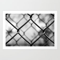Fenced In, New York City  Art Print
