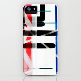 Red Black White Abstract Drawing iPhone Case