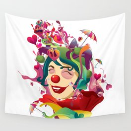 happines is not always feeling happy Wall Tapestry