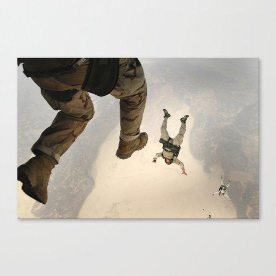 Parachuting sky 3 Canvas Print