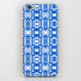 Ocean Ripple Marbling Blue and White iPhone Skin