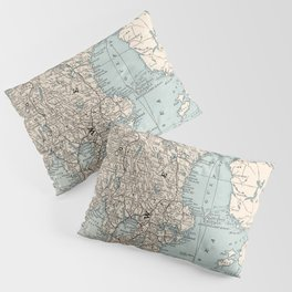 Vintage Map of Norway and Sweden (1893) Pillow Sham