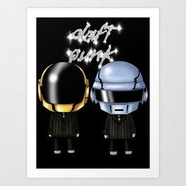 Daft Robots Art Print