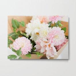 Dahlia Bouquet Metal Print