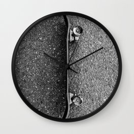 Resting Skateboard Wall Clock