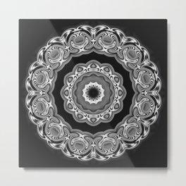 Black-white kaleidoscope A Metal Print