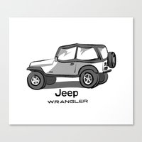 jeep Canvas Prints featuring Jeep by Mister Abigail