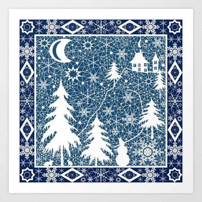 New Year S Design Lace Fabric Art Print By Fuzzyfox85 Society6