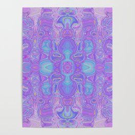 Lavender Dreams Abstract Poster