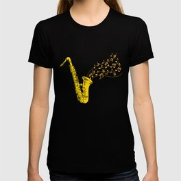 Saxophone Saxophonist Instrument Marching Band T-shirt