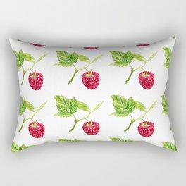 Raspberry, Fruit, Forest, Nature, Leaf, Berry, Sun, Summer, Happy Rectangular Pillow