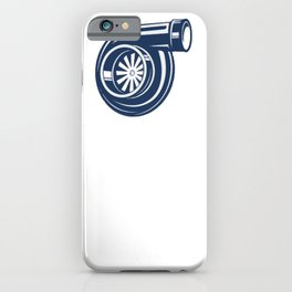 Turbo Boost turbocharger tuning gift idea xmas iPhone Case