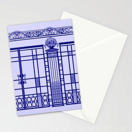 ART DECO, ART NOUVEAU IRONWORK: French Blue Stationery Cards
