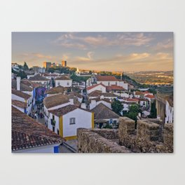 Obidos in the evening Canvas Print